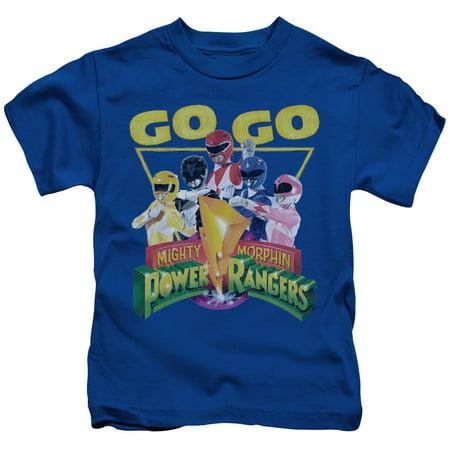 Power Rangers/Go Go S/S Juvenile 18/1 Royal Blue Pwr107