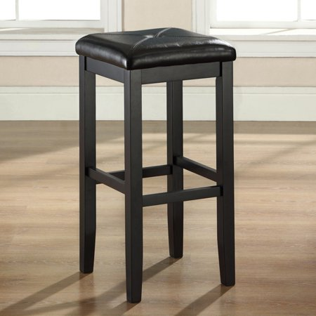 - Crosley Furniture Upholstered Square Seat Bar Stool with 29