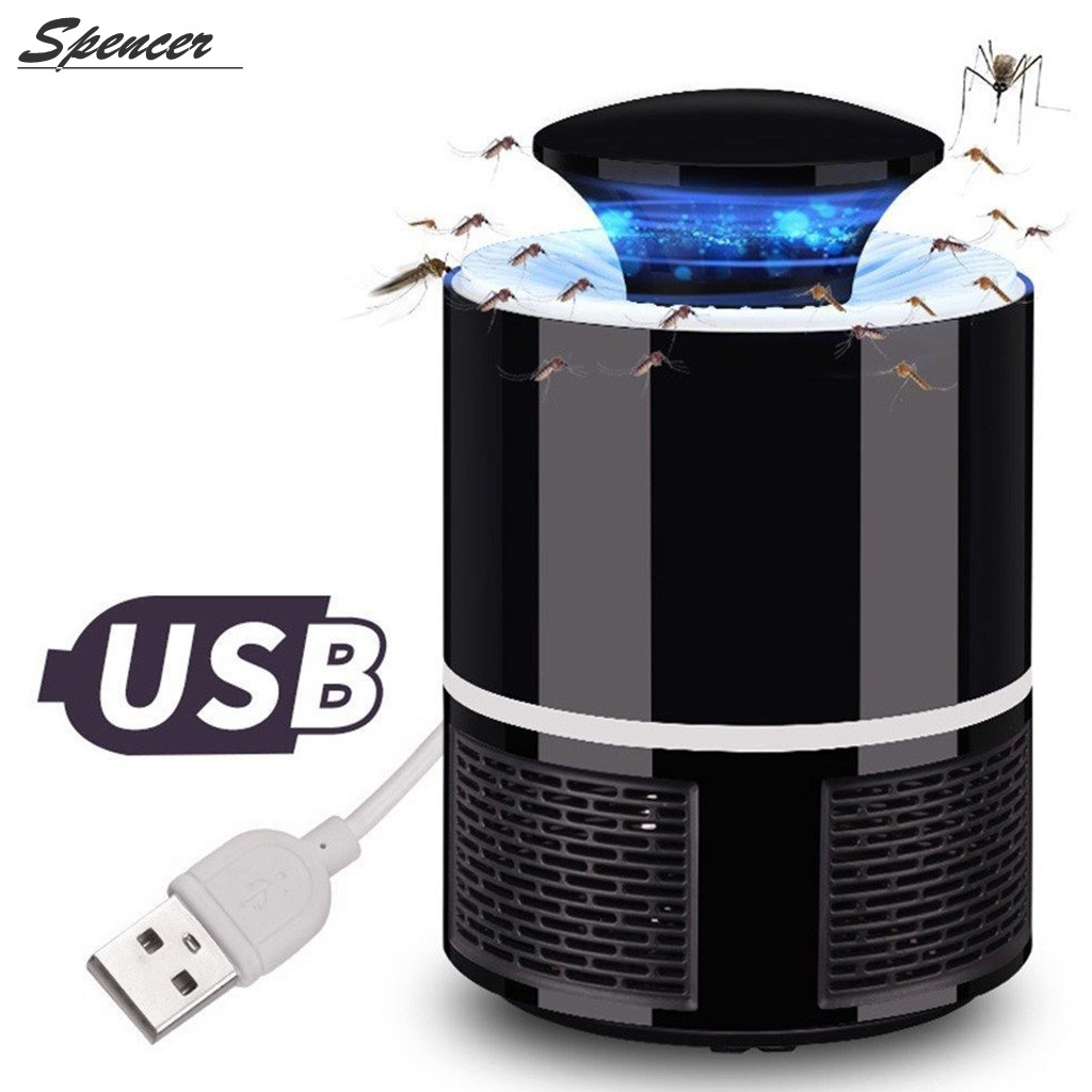 "Spencer USB Power LED Light Mosquito Killer Lamp Electronic Outdoor Camping Repellent Pest Control ""Black"""