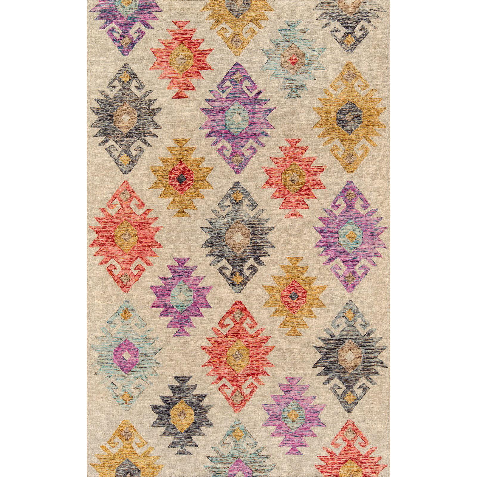 "Momeni Tangier Wool Hand Tufted Beige Area Rug 3'6"" X 5'6"""