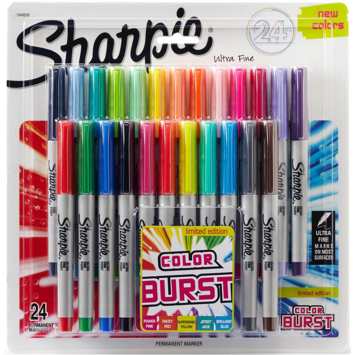 Sharpie Color Burst Ultra Fine Permanent Markers 24/Pkg Assorted