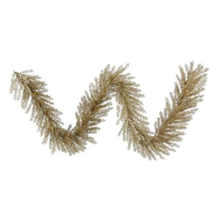 Vickerman 9' Champagne Tinsel Artificial Christmas Garland Unlit - image 1 de 1