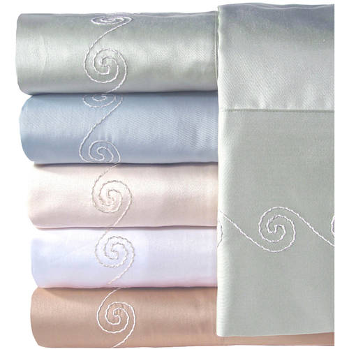 Veratex, Inc. Supreme Sateen 300-Thread Count Swirl Bedding Sheet Set