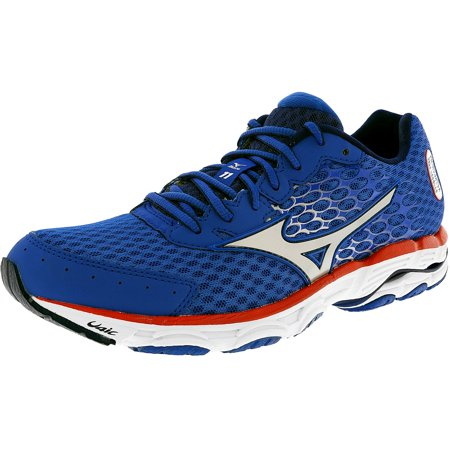 best sneakers 70426 ceac3 Mizuno Men's Wave Inspire 11 Blue / Sea Silver Red Ankle-High Running Shoe  - 7.5W