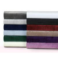 Tribeca Living Florence Velvet Oversized Solid Quilt Set Twin Ivory