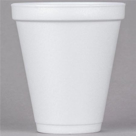 Dart Container 12J16 CPC 12 oz Customizable Squat Foam Cup, White - Cas of 1000](Customizable Cups)