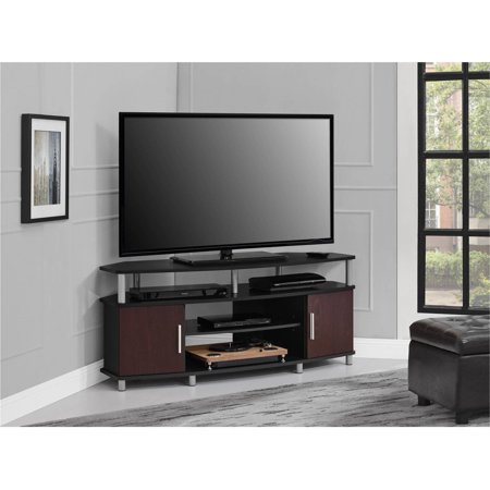 ameriwood home carson corner tv stand for tvs up to 50. Black Bedroom Furniture Sets. Home Design Ideas