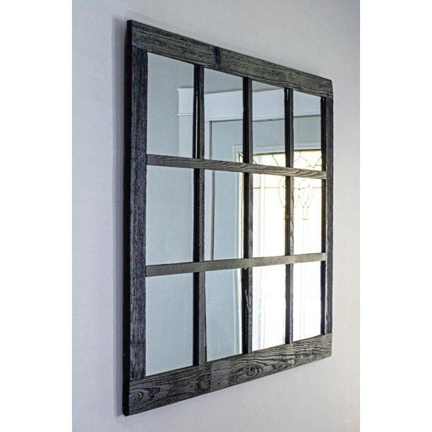 "Extra Large Farmhouse Window Pane Mirror- 46""X36""- Rustic ..."