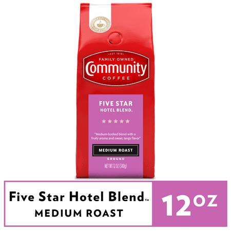 Community Coffee Five Star Hotel Blend Medium Roast Ground 12 oz Gable Top