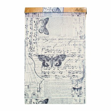 Tim Holtz Idea-ology Melange Tissue Wrap. Decorative Craft Paper. 1- 12 Inch Wide Roll. 15 Feet per Roll. TH93042 (Craft Tissue Paper)