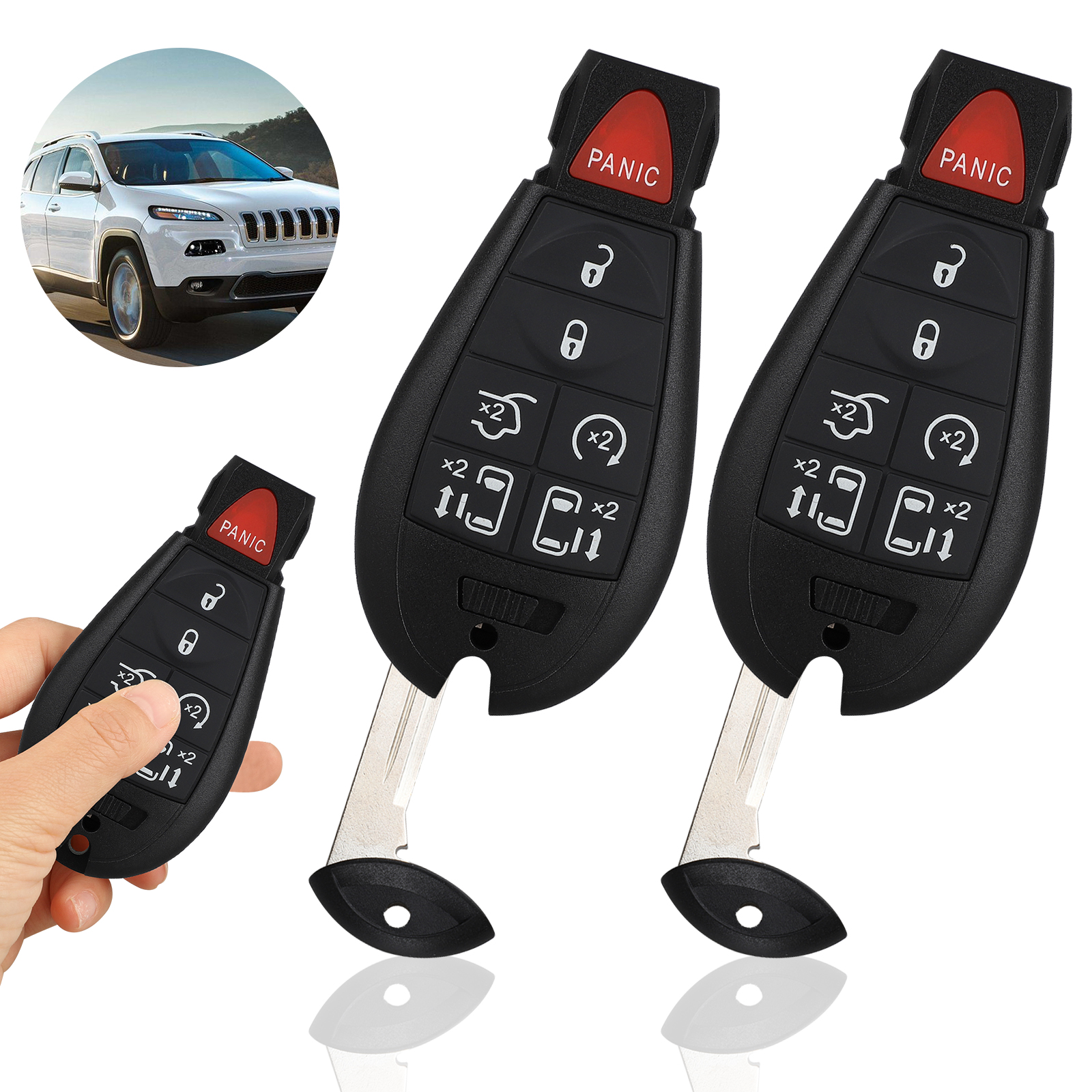 IYZ-C01C For Chrysler Town Country Dodge Grand Caravan Volkswagen Routan 1 New Keyless Entry 6 Buttons Remote Start Car Key Fob M3N5WY783X