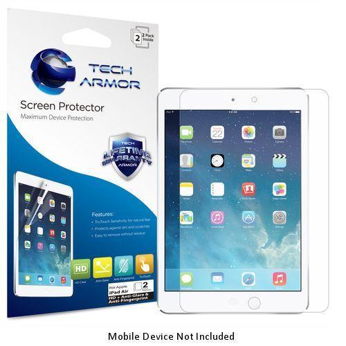 Tech Armor Apple iPad Air 2 (Generation 5 & 6) Anti-Glare/Anti-Fingerprint (Matte) Screen Protectors [2-Pack] Lifetime Warranty