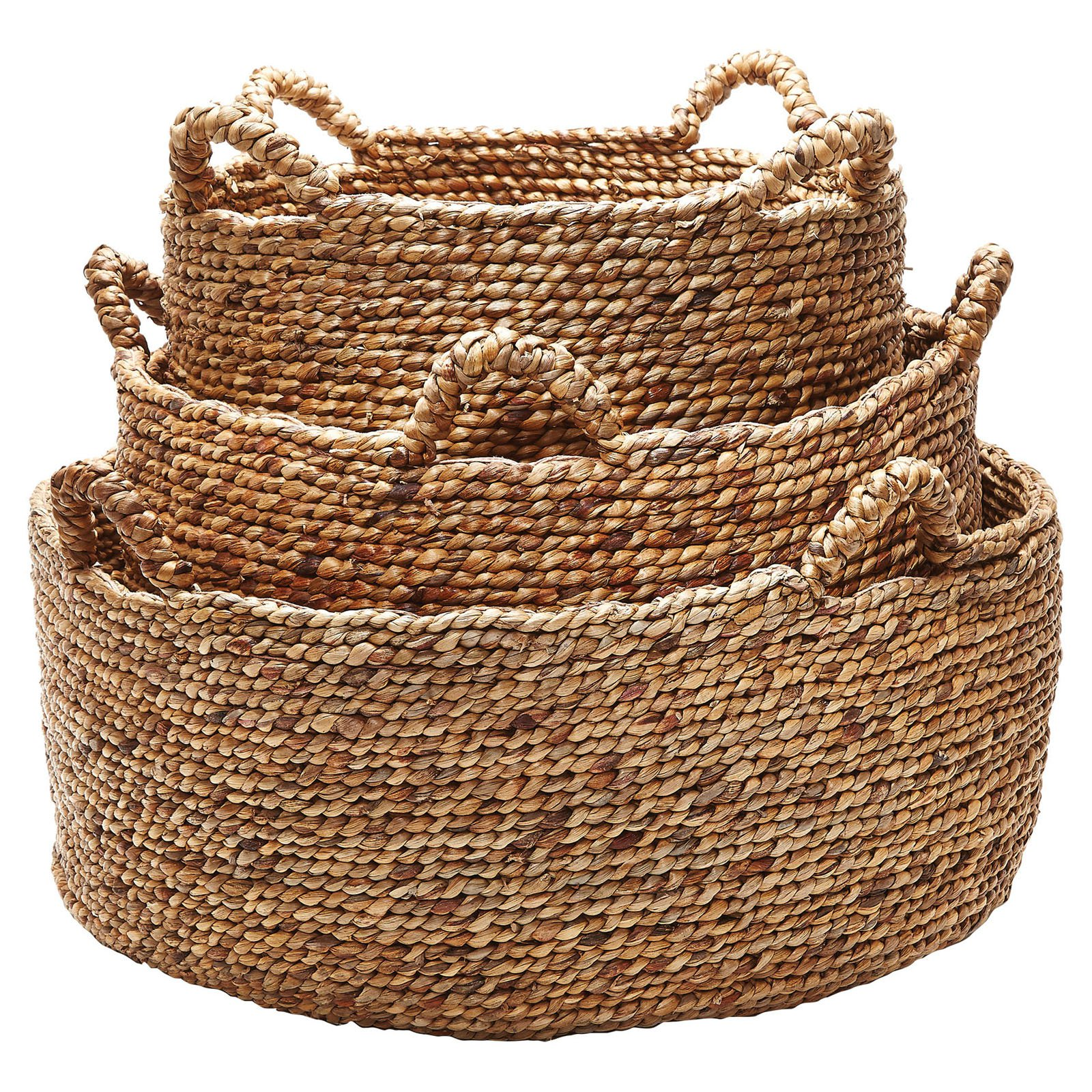 Dimond Home Natural Low Rise Baskets - Set of 3