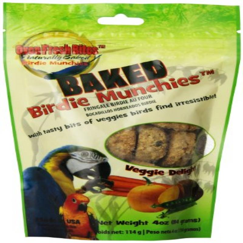 Oven Fresh Bites Birdie Munchies Pet Treat, Veggie, 4-Ounce