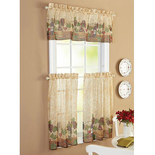 Better Homes And Gardens Belle Wine Tier Curtain And