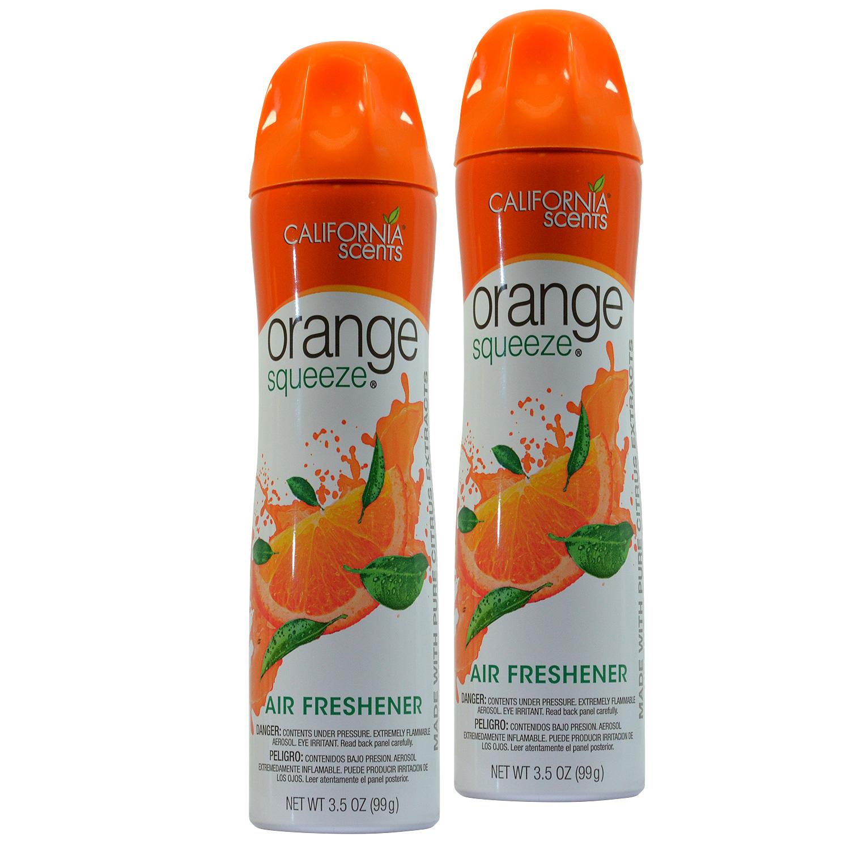 California Scents Orange Squeeze 3.5 Oz Air Freshener Spray (2)