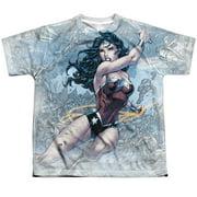 Jla - Wonder Warrior - Youth Short Sleeve Shirt - Large