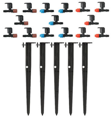 Drip Irrigation Micro-Sprinkler on Stake, 5-Pack
