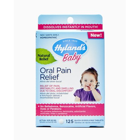 Hyland's Baby Oral Pain Relief, 125 tablets (Best Teething Remedies For Babies)