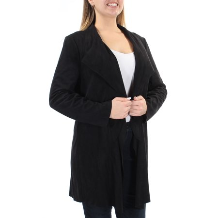 d3d92122bf9b Alfani - ALFANI Womens Black Faux Suede Blazer Wear To Work Jacket Size: S  - Walmart.com