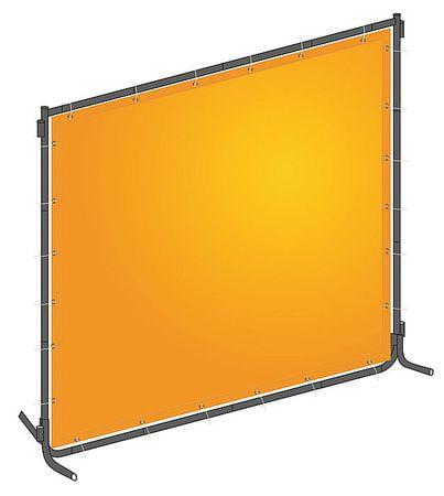 Westward 22RN68 Yellow PVC/Steel Welding Screen