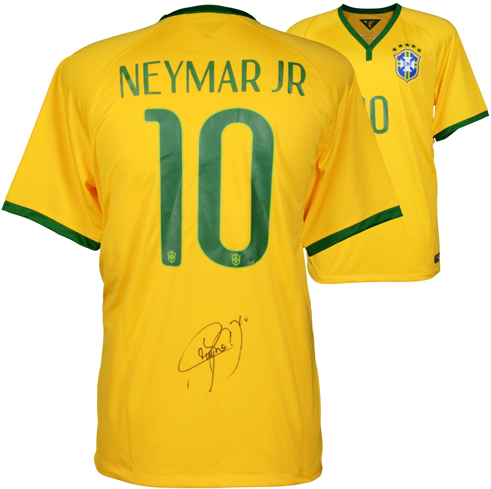 Neymar Brazil National Team Autographed Yellow Jersey - Fanatics Authentic Certified