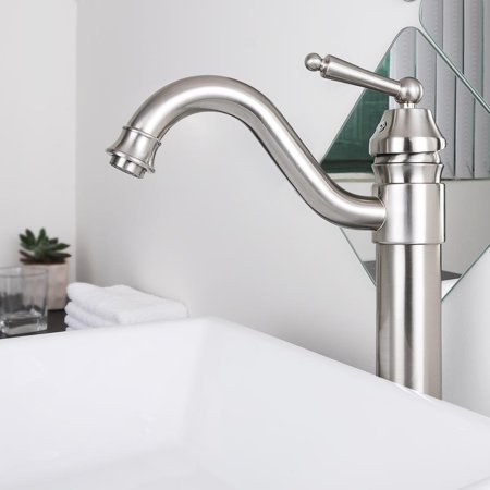 "Aquaterior 13-1/2"" Tall Bathroom Faucet  Single Handle Vessel Basin Lavatory (Cupc NSF)"