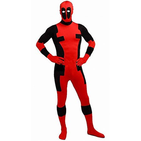 Black Body Suit One Piece Deadpool Costume Not Specified](Deadpool Suit For Sale)