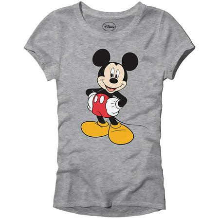 Disney Mickey Mouse Wash Disneyland World Tee Funny Humor Women's Juniors Slim Fit Graphic T-Shirt Apparel (Heather Grey)](Halloween En Disney Junior)