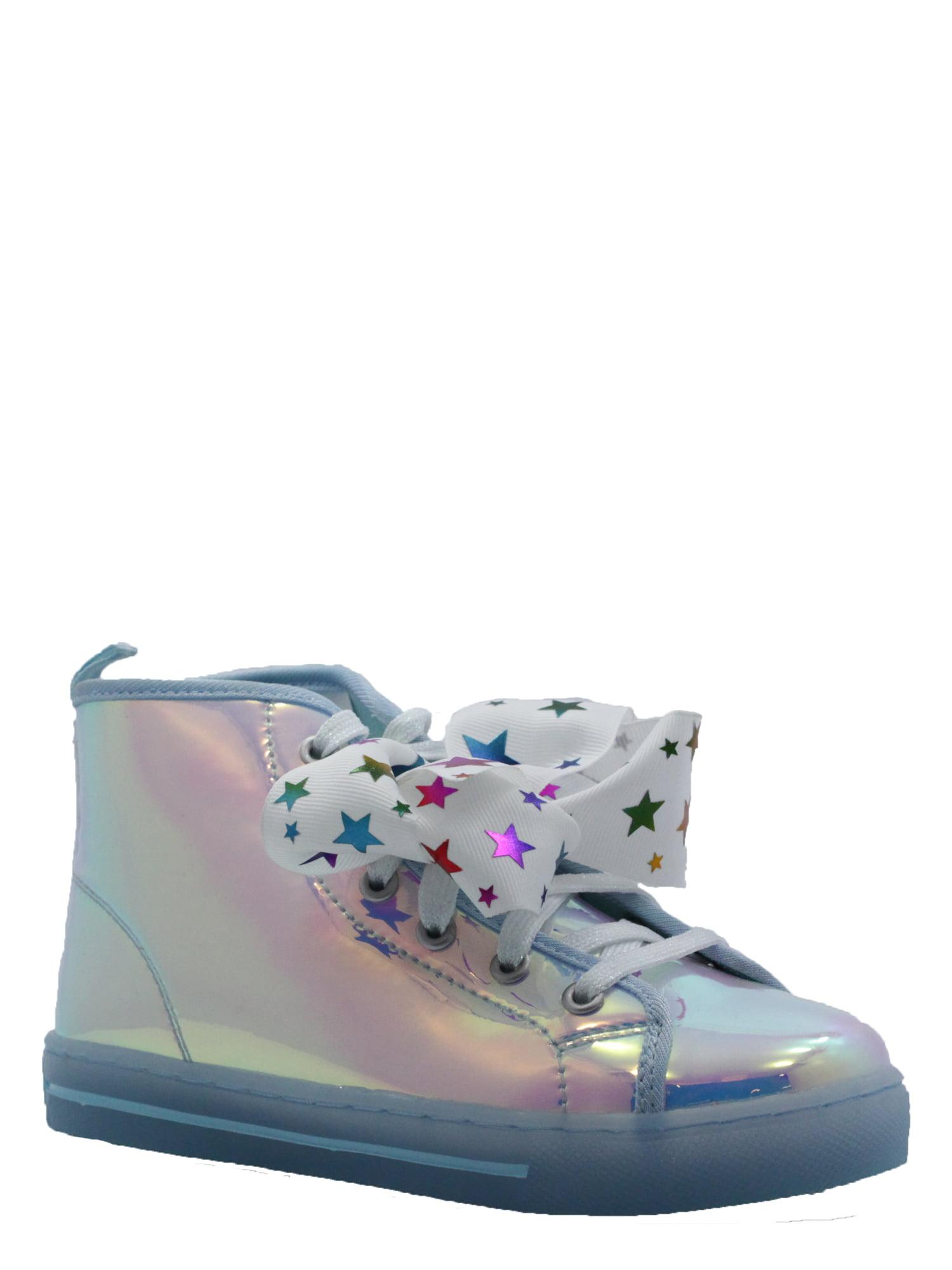 iridescent high top sneakers