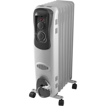 Mainstays Oil Filled Electric Radiant E Heater White