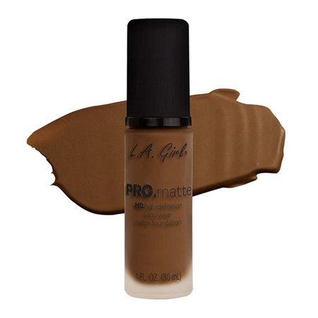 LA Girl PRO.mattte HD.high-definition long wear matte foundation (GLM684 Cappuccino), With a soft and suede-like finish, PRO.matte Foundation will have you covered.., By LA Girl