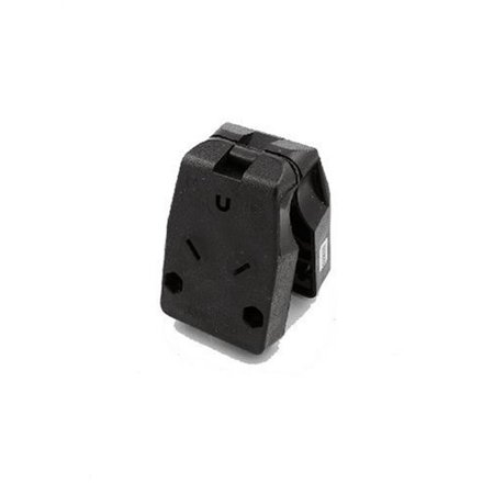 Thermoplastic Shell (830-T 30 Amp, 125 Volt, Travel Trailer Vinyl Grounding Angle Plug, Black, Tough thermoplastic shell for long life By Leviton From USA)