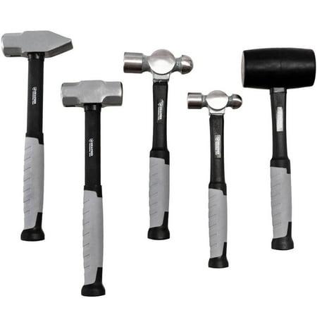 Handle Forged Tool Set (Costway 5 Piece Hammer Set Professional Blacksmith Propane Forge Tool Shop Garage)