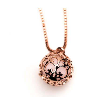 Essential Oil Diffuser Aromatherapy Necklace Rose Gold Small Round Locket