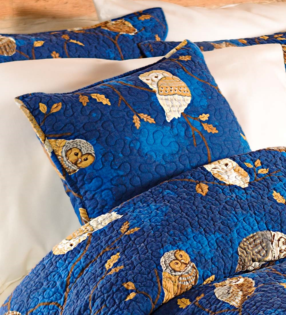Moonlight Owl Throw Pillow