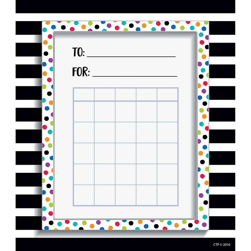 SPOT/STRIPE STUDENT INCENTIVE CHART BOLD AND BRIGHT