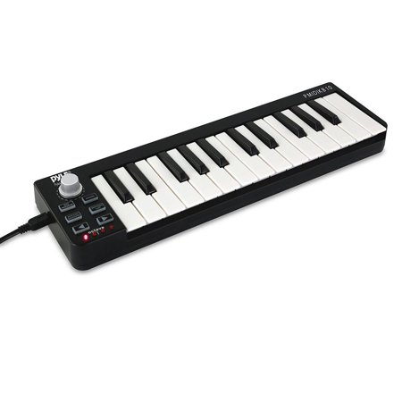 Pyle PMIDIKB10 - Compact MIDI Keyboard - USB Digital Piano
