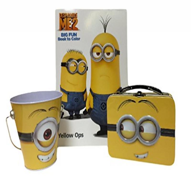 Despicable Me 2 Yellow Ops Coloring Book with Tin Tote Bo...