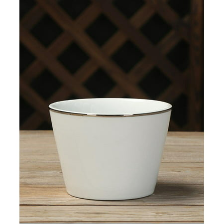 Mainstays Silver-Banded White Bowls, Set of 6