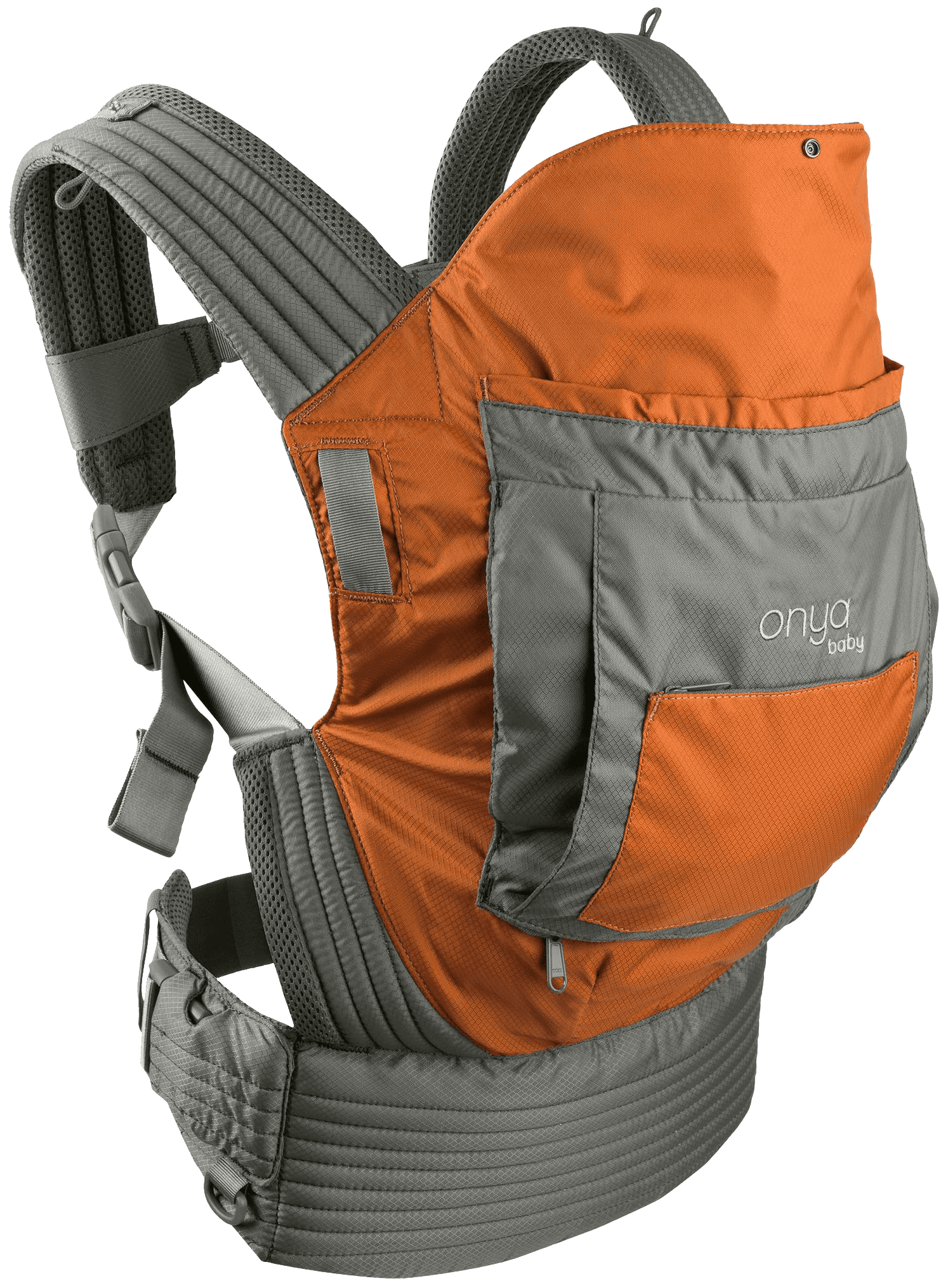 Onya Baby Outback Baby Carrier Burnt Orange Slate Grey by Onya Baby