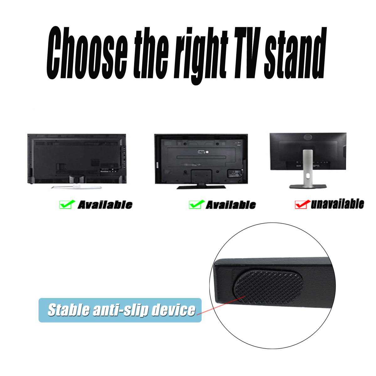 Universal TV Stand Support Base Plasma LCD Flat Screen Table Top Pedestal Mount