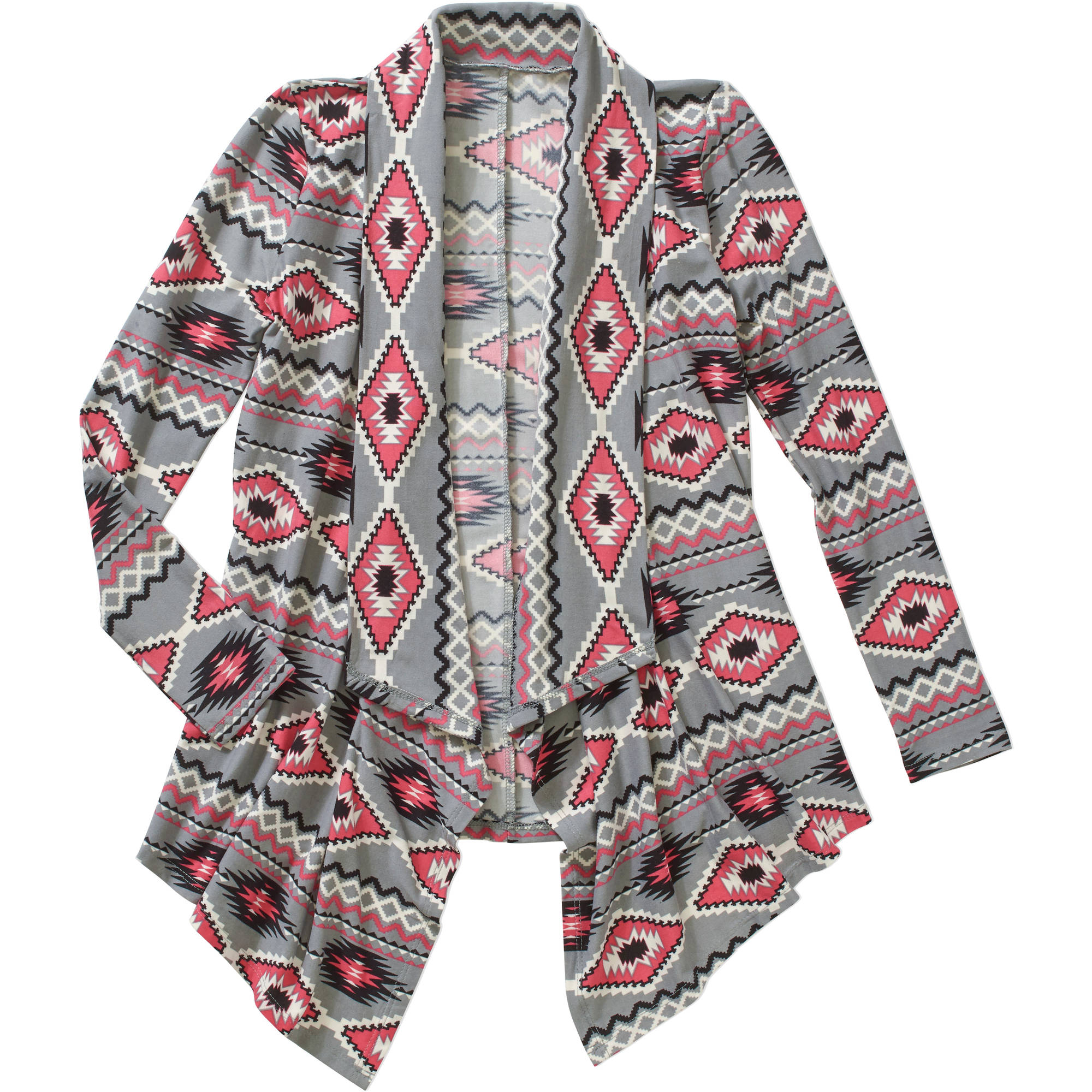 Derek Heart Girls' Super Soft Yummy Printed Cardigan