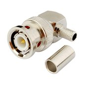 2pcs Rf Terminal Copper Alloy Connector Bnc Male Right Angle Crimp for Rg58 RFC195 Rg400