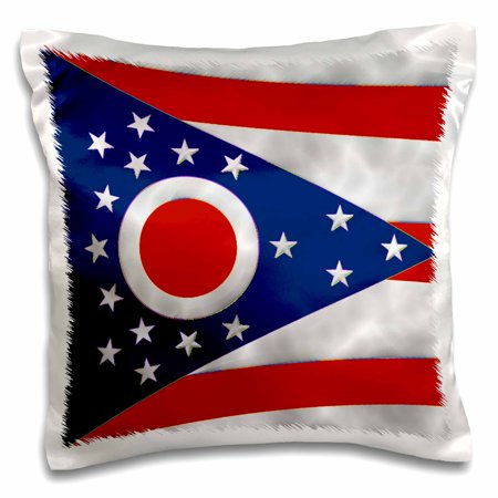 Rose Ohio State Flag Pillow Case 16 By Inch
