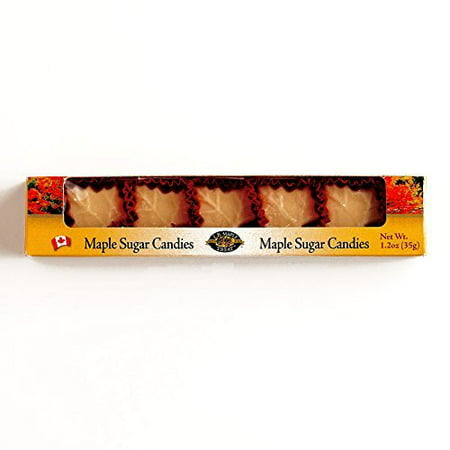 LBMT Pure Maple Sugar Candy 5-Piece 1.23 oz each (4 Items Per Order) (Maple Sugar Candy)