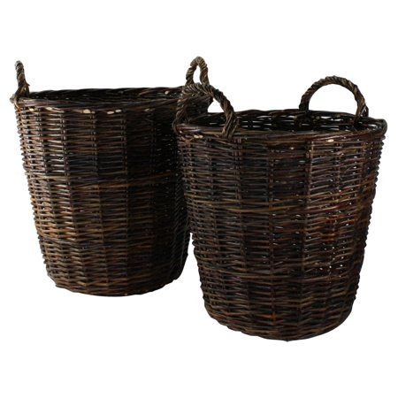 Areo Home Areo Home Woven Branch Round Baskets - Set of 2