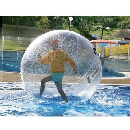 Moaere 6ft Inflatable Water Walking Zorb Ball Dance Roll PVC Tizip Zipper 150KG](Clear Beach Balls)