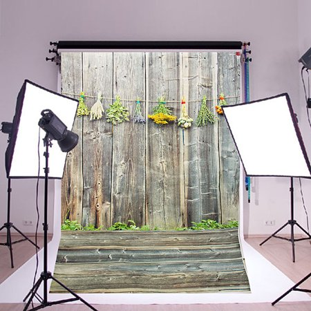 3x5ft Vinyl Photography Wall Wood Floor Background Retro Studio Backdrop Props SPECIAL TODAY ! - Photographer Backdrops