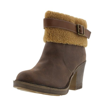 Dirty Laundry Womens Faux Leather Distressed Ankle Boots